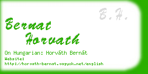bernat horvath business card